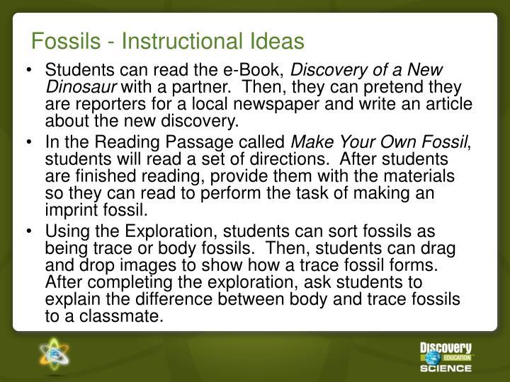 Fossils - Instructional Ideas