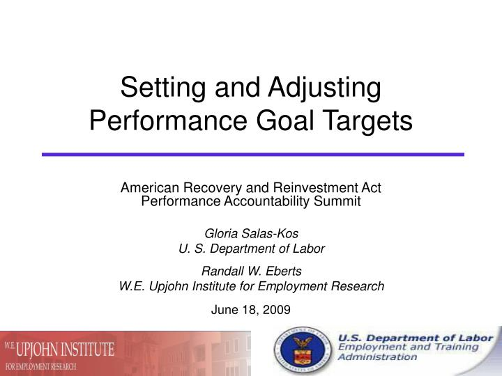setting and adjusting performance goal targets n.