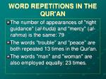 word repetitions in the qur an10