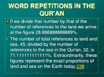 word repetitions in the qur an15