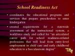 school readiness act
