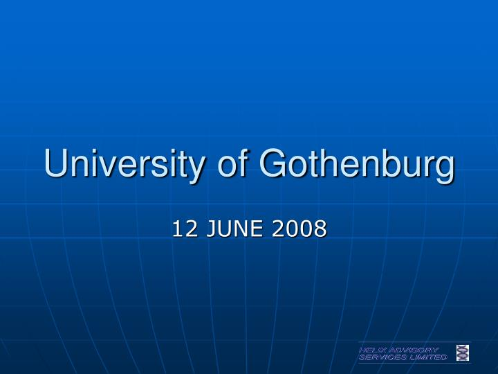 university of gothenburg n.