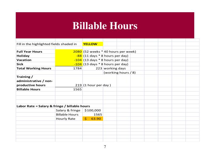 Billable Hours