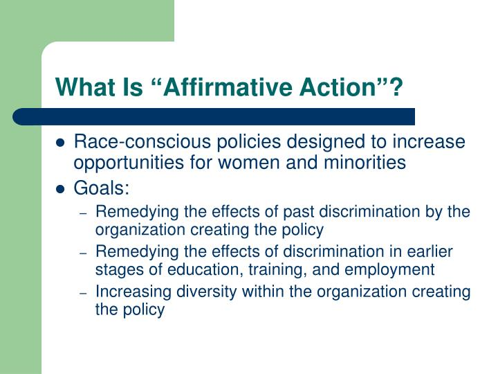 "What Is ""Affirmative Action""?"