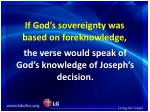 if god s sovereignty was based on foreknowledge