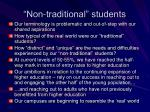 non traditional students
