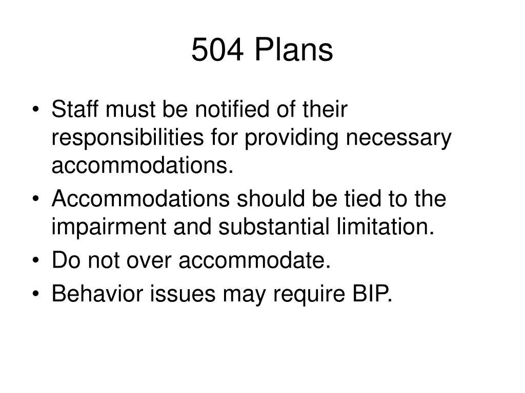 504 Plans