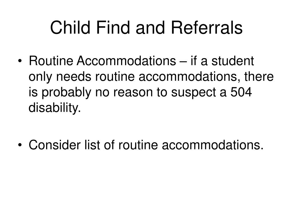 Child Find and Referrals