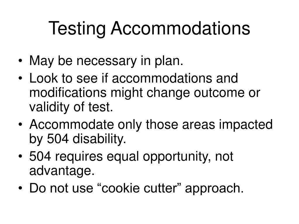 Testing Accommodations