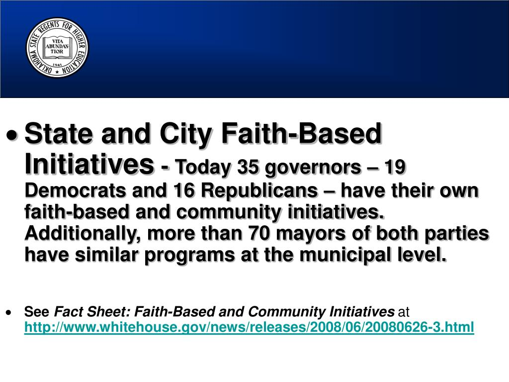 State and City Faith-Based Initiatives