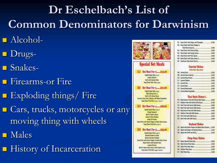 Dr Eschelbach's List of