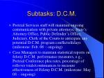 subtasks d c m2
