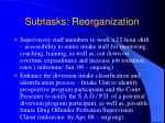 subtasks reorganization1
