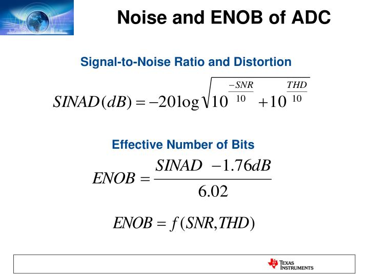 Noise and ENOB of ADC