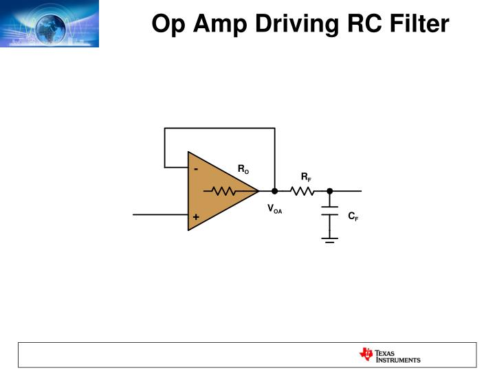 Op Amp Driving RC Filter
