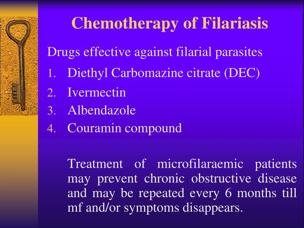 Chemotherapy of Filariasis