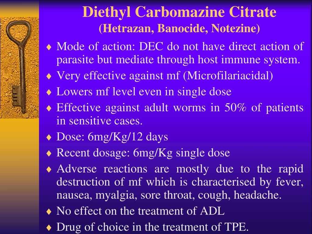 Diethyl Carbomazine Citrate
