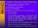 lymphatic filariasis control programme