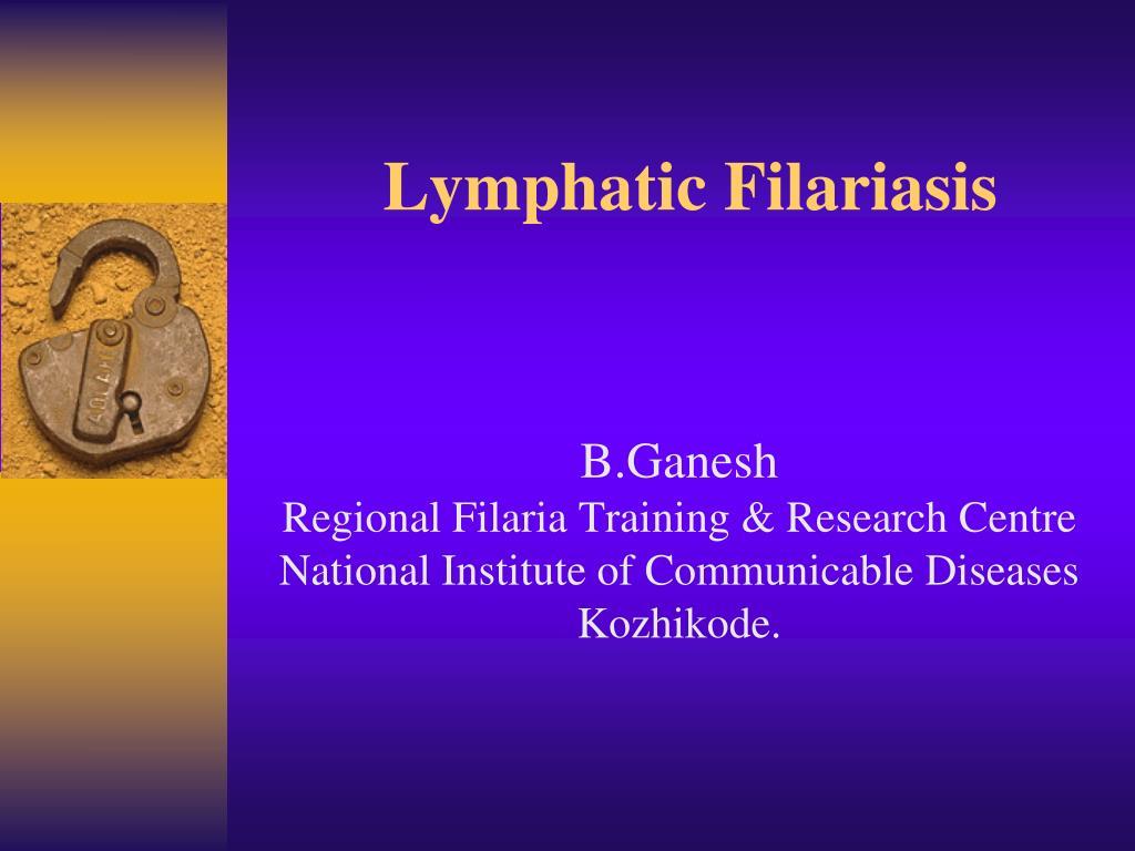 lymphatic filariasis l.