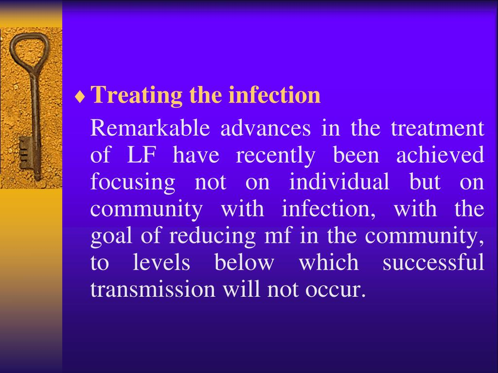Treating the infection