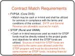 contract match requirements