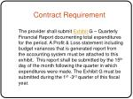 contract requirement