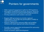 pointers for governments