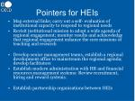 pointers for heis