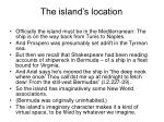 the island s location