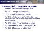 insurance information notice letters website http doa louisiana gov orm