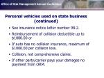 personal vehicles used on state business continued
