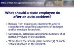 what should a state employee do after an auto accident