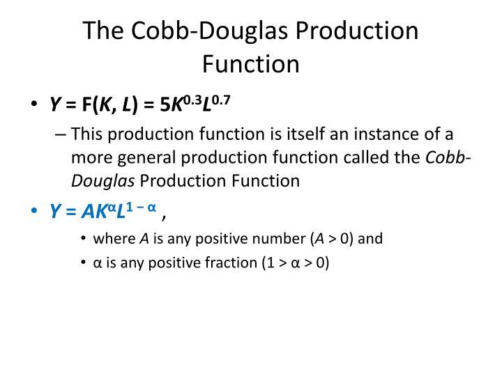 The Cobb-Douglas Production Function