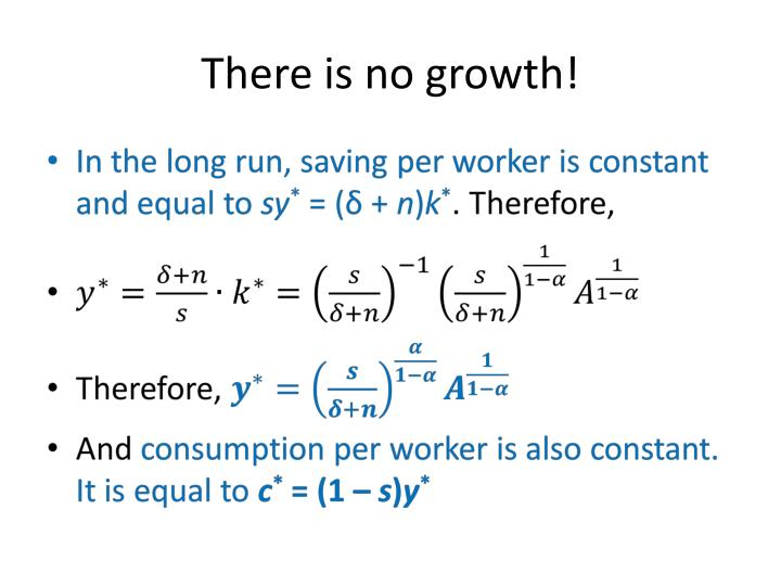 There is no growth!