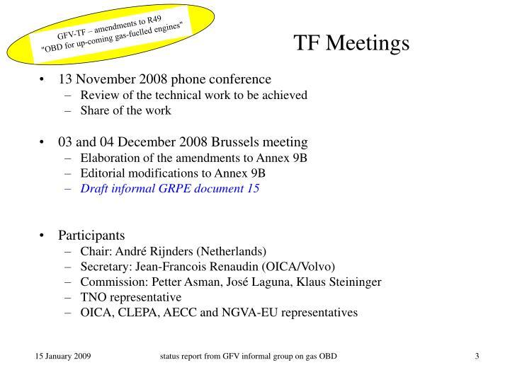 Tf meetings