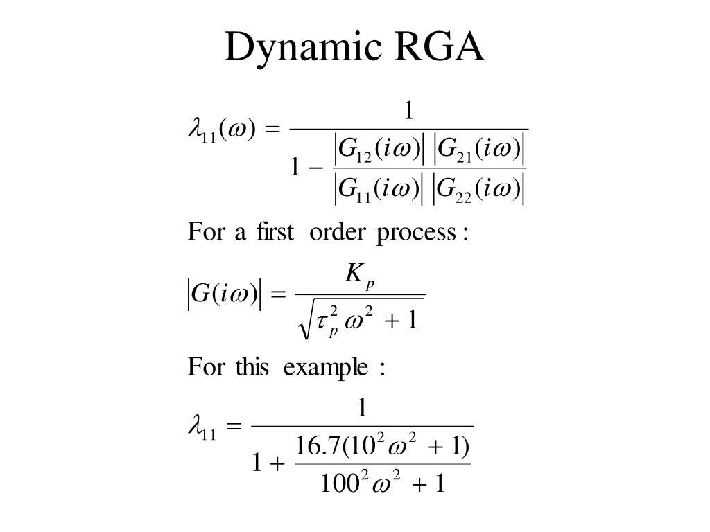 Dynamic RGA