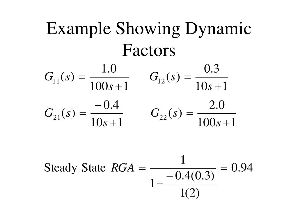 Example Showing Dynamic Factors