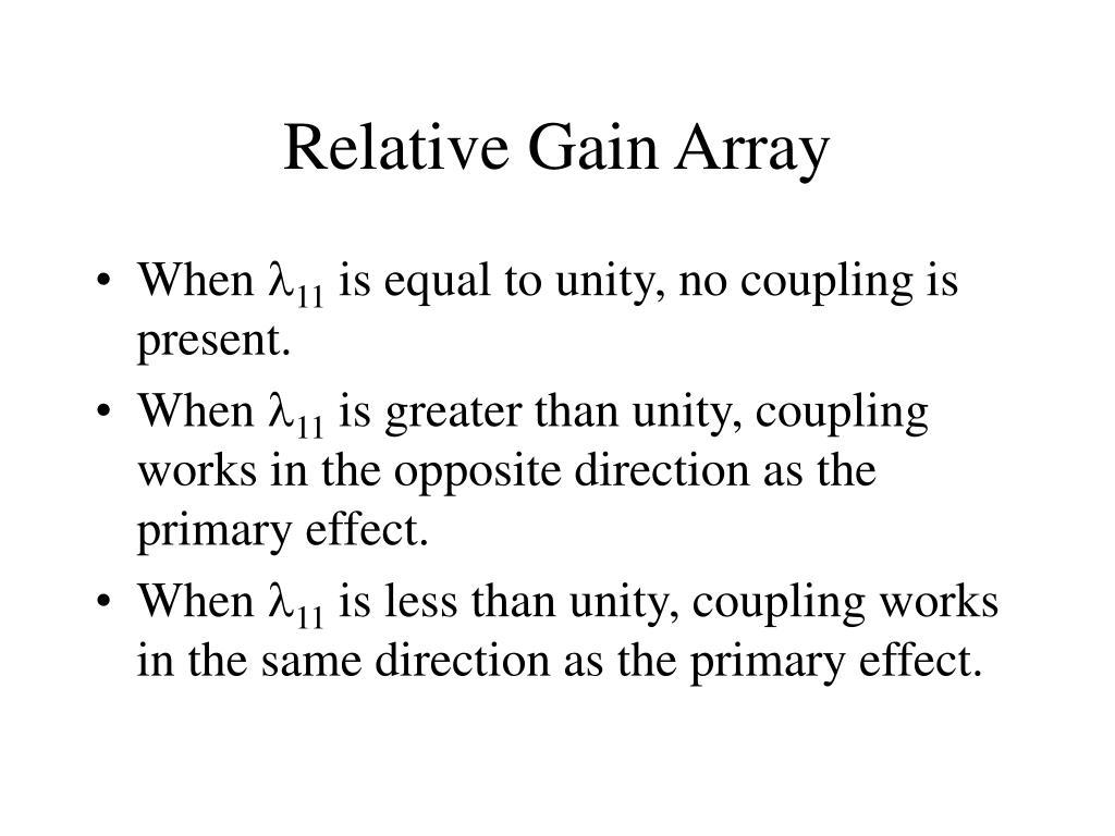 Relative Gain Array