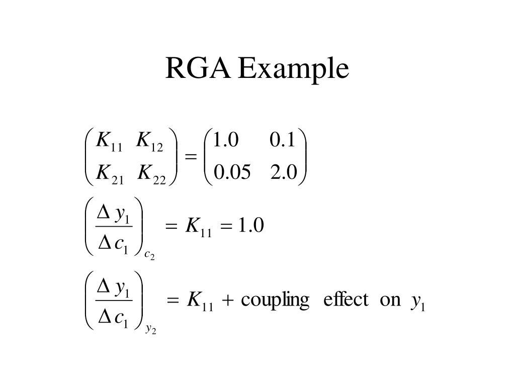 RGA Example