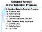 homeland security higher education programs