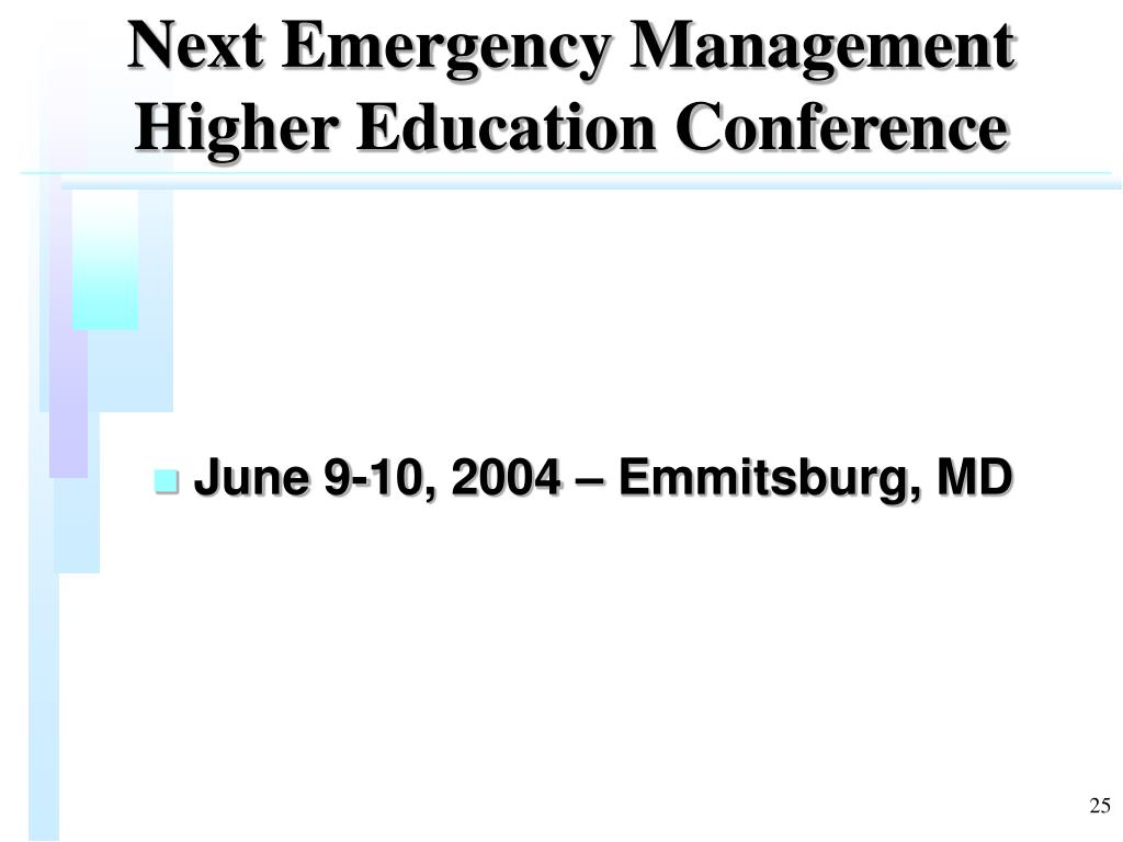 Next Emergency Management Higher Education Conference