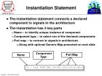 instantiation statement