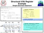 structural 8 bit register example simple generate statement