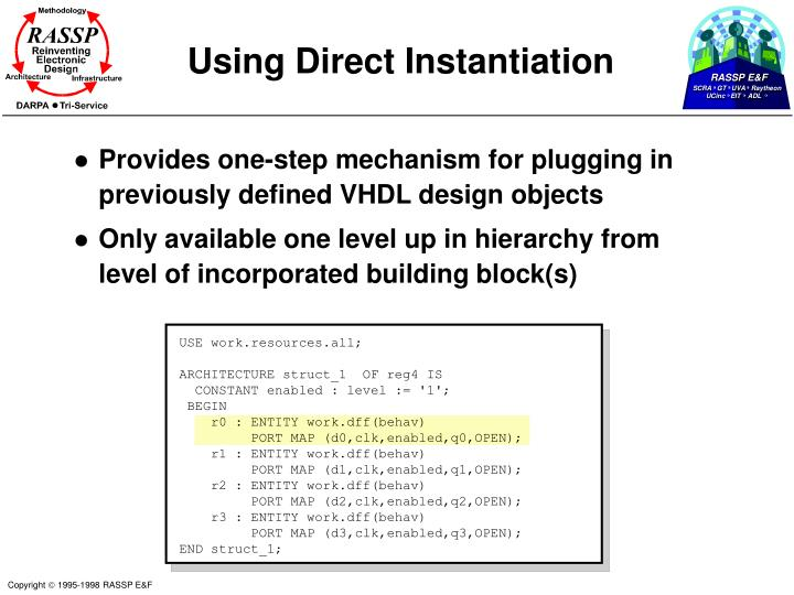 Using Direct Instantiation