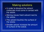 making solutions1