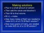 making solutions2