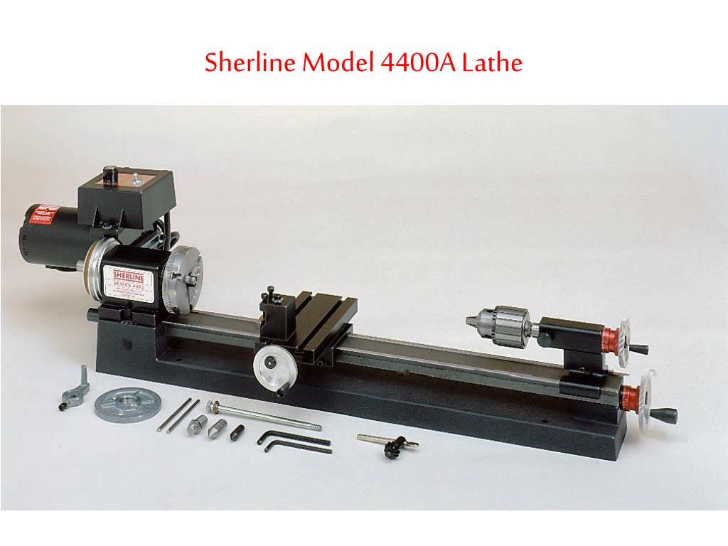 sherline model 4400a lathe l.