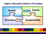 higher education reform principles