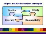 higher education reform principles