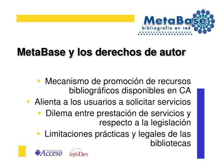 Metabase y los derechos de autor